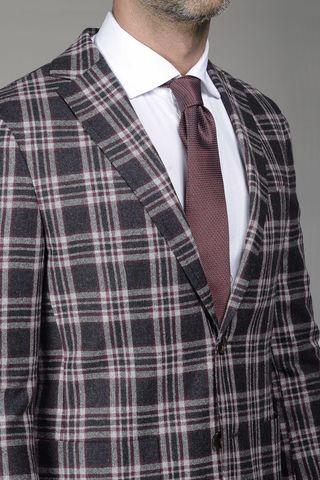 grey-burgundy jacket wales slim Angelico