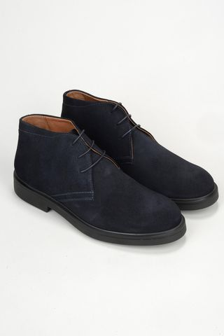 blue suede ankle boot Angelico