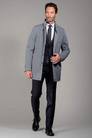 cappotto grigio piombo tecnico Angelico