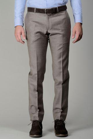 hazelnut flannel trousers slim Angelico