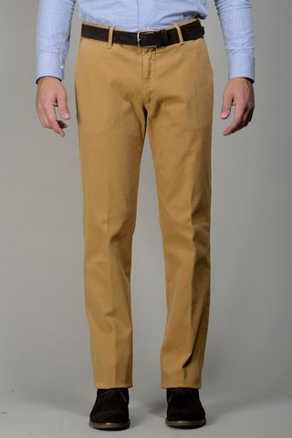 mustard trousers stretch tricotina Angelico