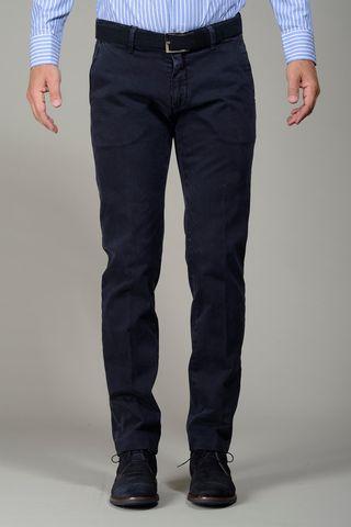 pantalone blu gabardina stretch slim Angelico