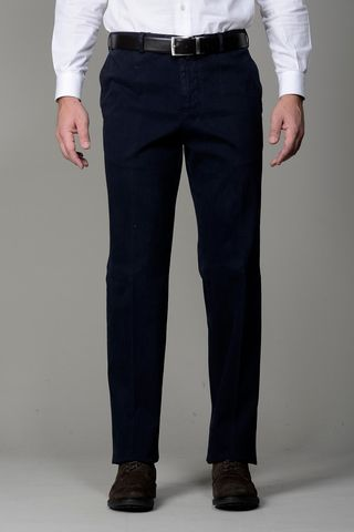 navy trousers stretch cannetè comfort Angelico