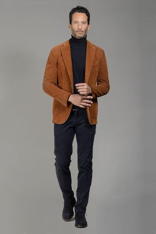 light brown corduroy jacket slim Angelico