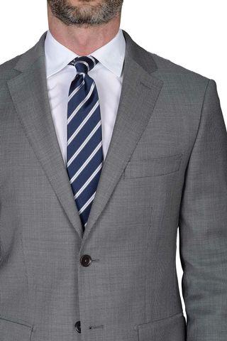 grey suit birdseye Angelico