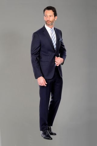 Blue suit super100s Angelico