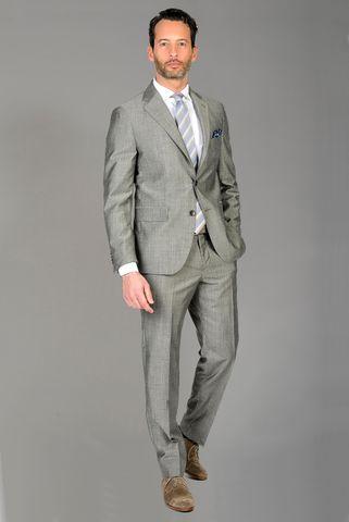 grey suit wool-silk comfort Angelico