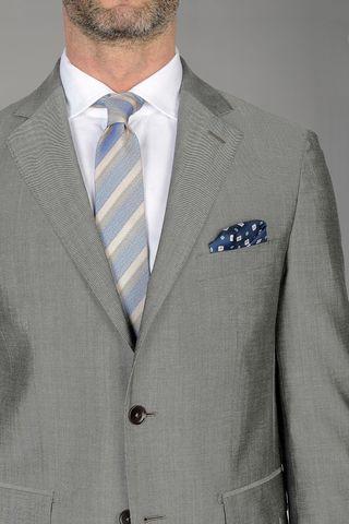abito grigio chiaro mohair-seta comodo Angelico