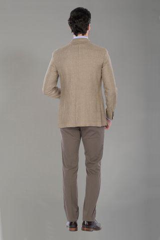 Light brown jacket linen-wool Angelico