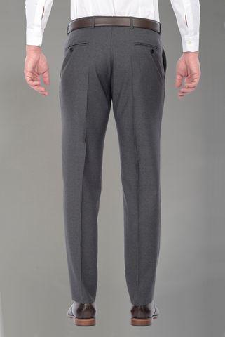 Pantalone grigio tela lana 100s Angelico