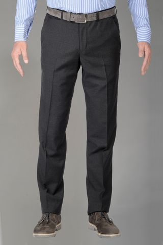 dark grey wool trousers 100s Angelico