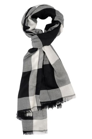 black-white checkered scarf Angelico