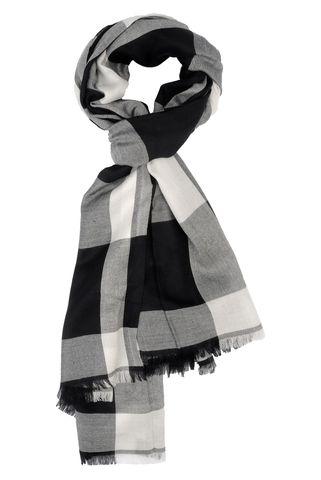 sciarpa nera-bianca scacchi Angelico