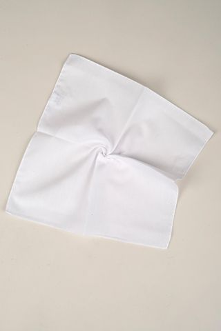 white popelin cotton pocketsquare Angelico