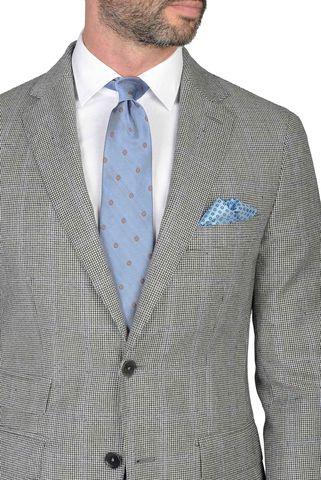 grey suit pie de poule suit slim Angelico