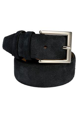 navy suede belt Angelico