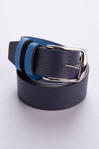 Cintura blu-azzurra double pelle-nabuk Angelico