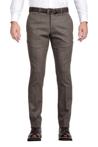 pantalone nocciola flanella stretch extraslim Angelico