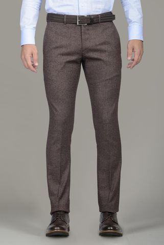 burgundy wool-cotton trousers extraslim Angelico