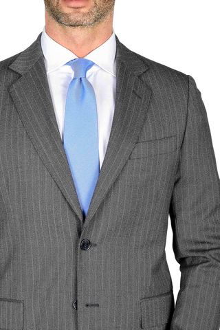 grey pinstripe suit wool 100s Angelico