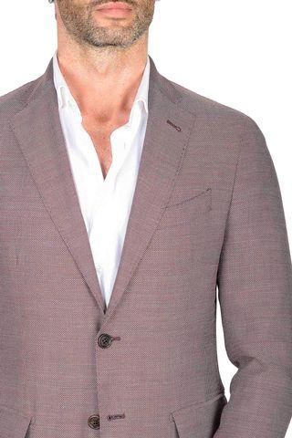 giacca bordeaux armaturata lana slim Angelico