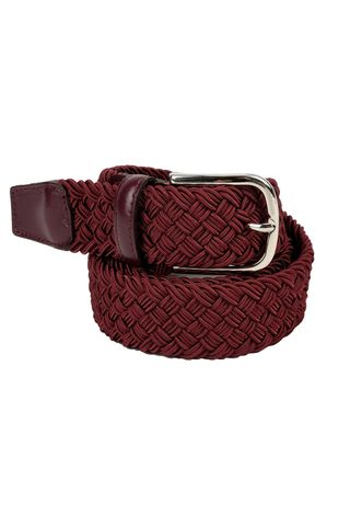 Burgundy stretch braided belt Angelico