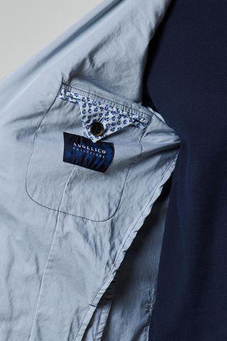 giacca grigio chiaro raso tinto capo slim Angelico