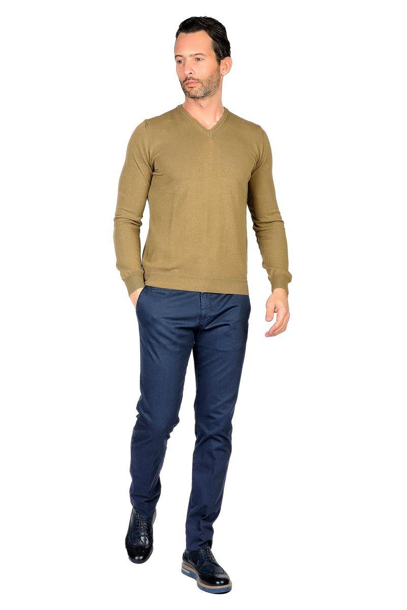 khaky pullover v neck Angelico