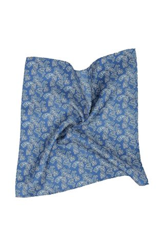 indigo silk pocketsquare paisley patterns Angelico