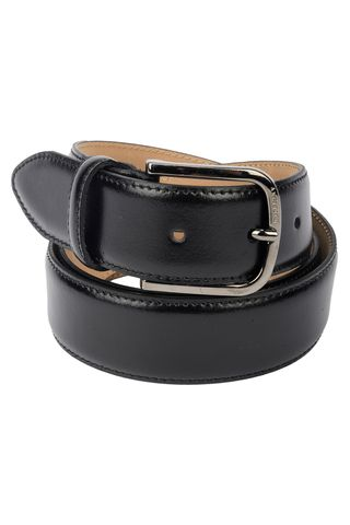 black  cowleather belt Angelico