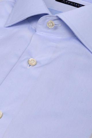 Camicia azzurra twill collo francese Angelico
