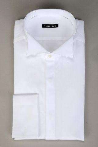 check-out 0ac1c 0b971 Angelico Camicia bianca collo diplomatico polso gemelli, camicie ...