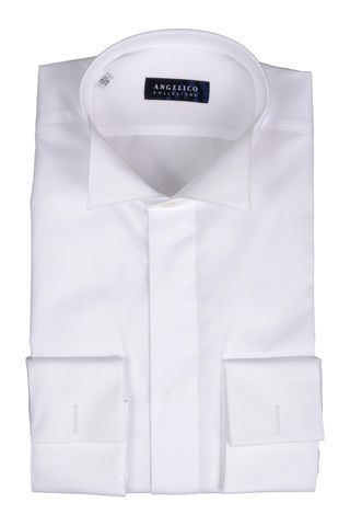 White shirt with diplomatic collar slim Angelico