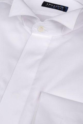 Camicia bianca collo diplomatico slim Angelico