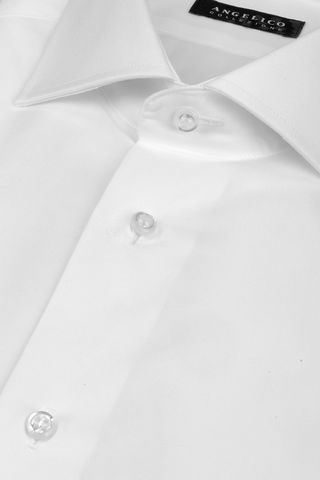 white shirt double cuff slim Angelico