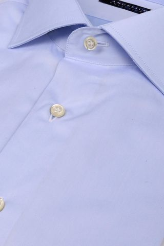 light blue shirt double cuff slim Angelico