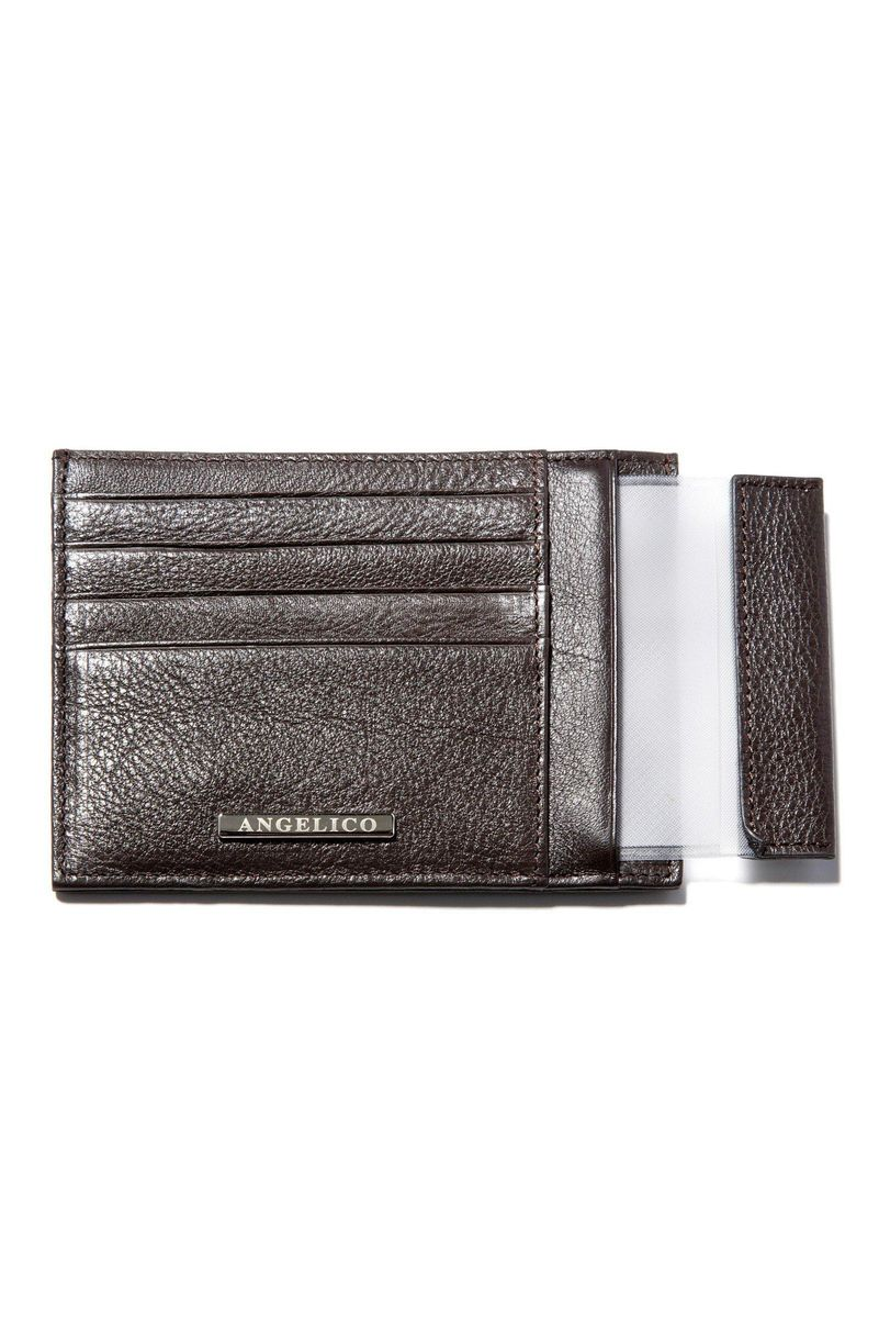 brown leather document holder Angelico