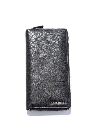 black leather passport-holder Angelico
