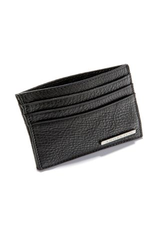 Black leather credit card holder Angelico