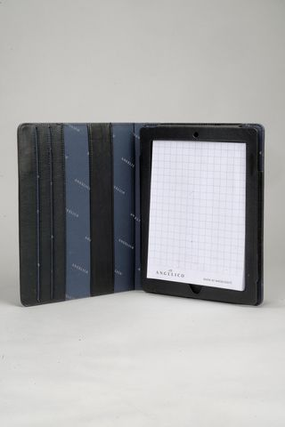Black notepad leather folder  Angelico