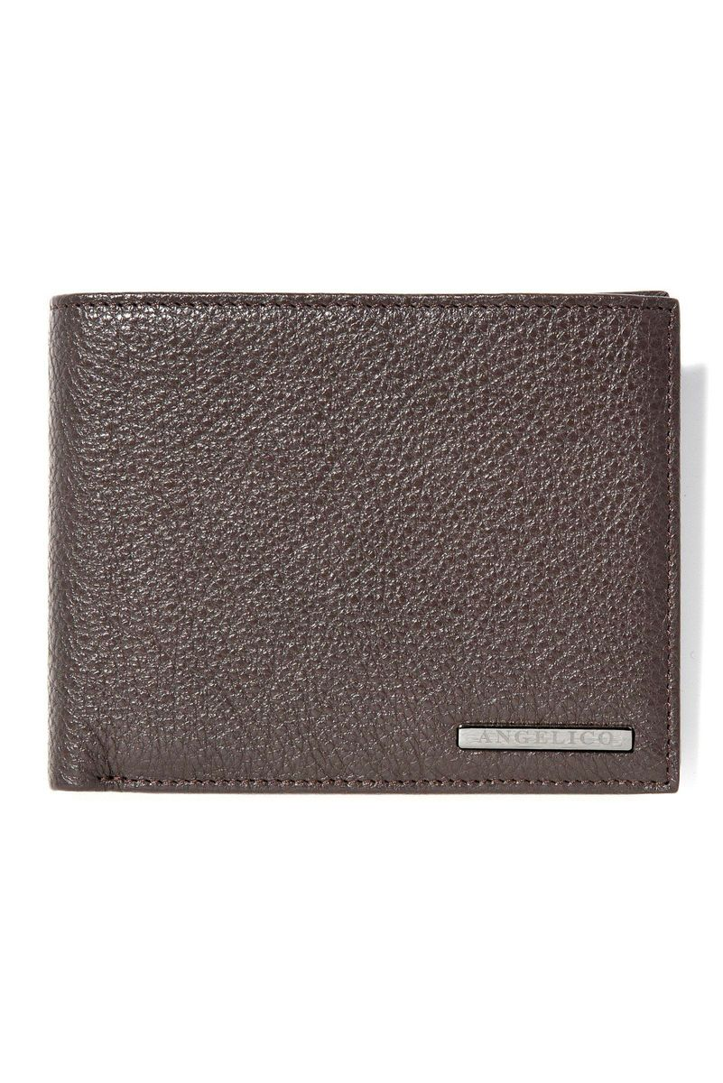 brown leather wallet Angelico