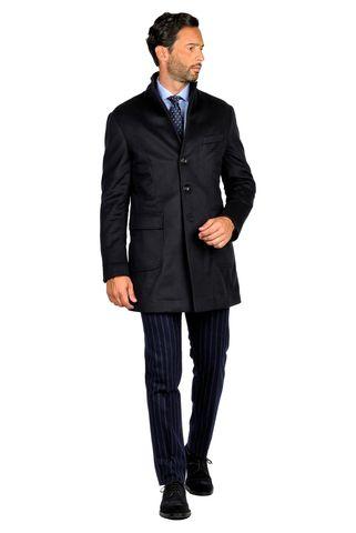 cappotto blu lana-cachemire sfoderato Angelico