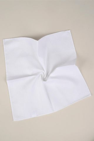 white cotton pocket square Angelico