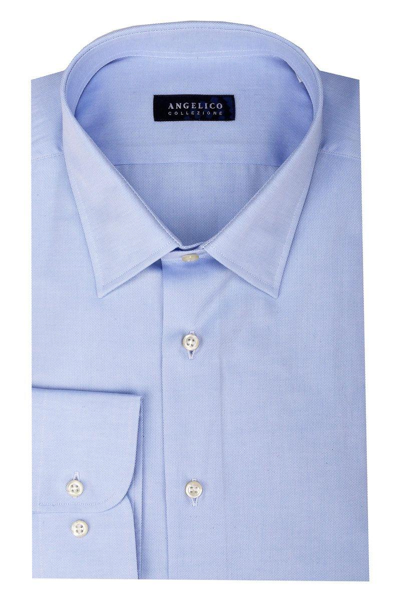 camicia azzurra comoda armaturata Angelico