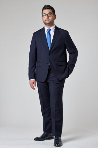 Dark blue 100s suit comfort Angelico