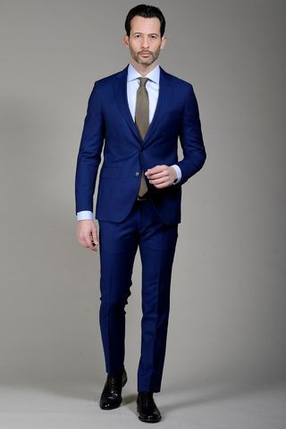 Bluette suit 100s slim long Angelico