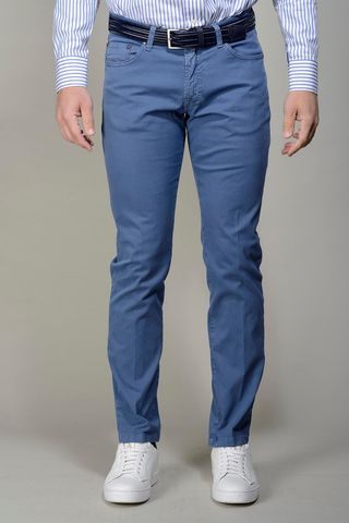 royal blue 5-pocket trousers slim Angelico