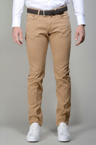 light brown 5-pocket trousers slim Angelico