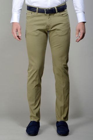 Green 5-pocket trousers slim Angelico
