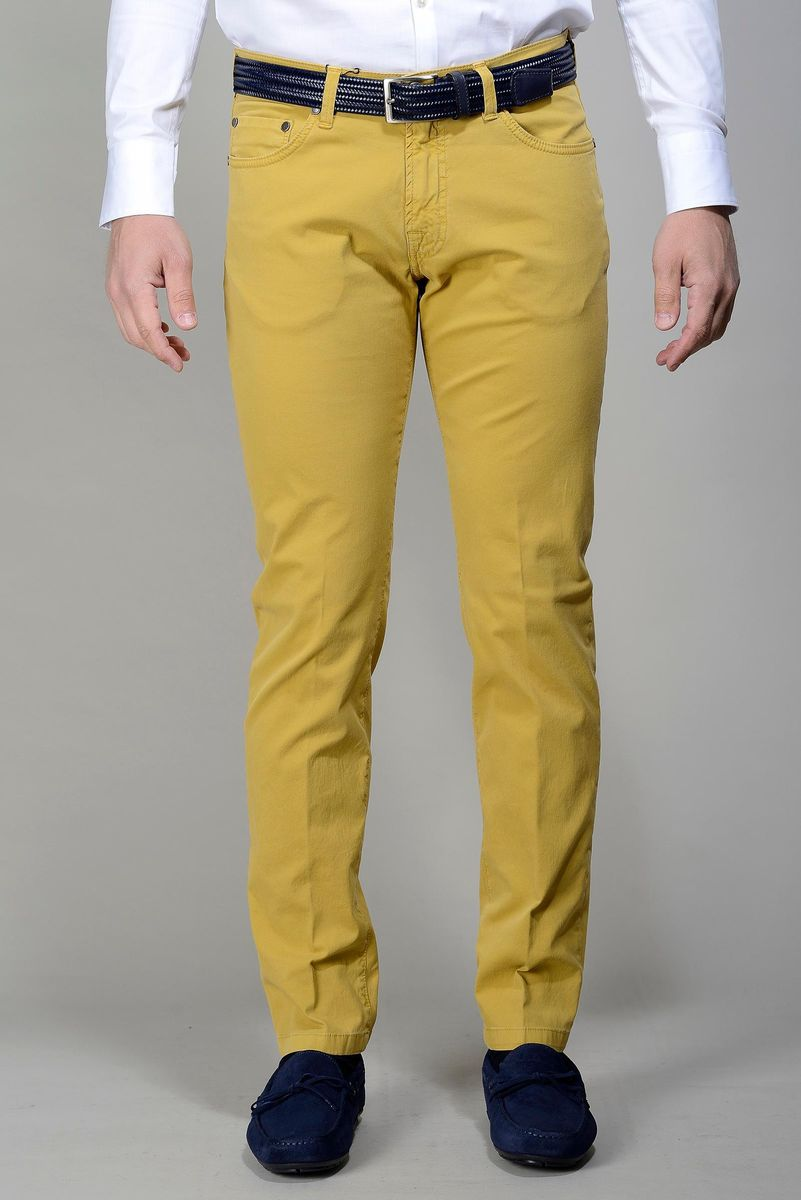 mustard 5-pocket trousers slim Angelico